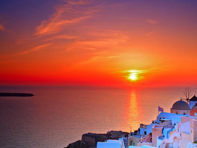 Закаты на Санторини