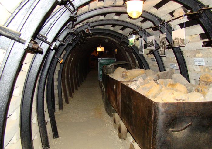 Внутри музея добычи железной руды