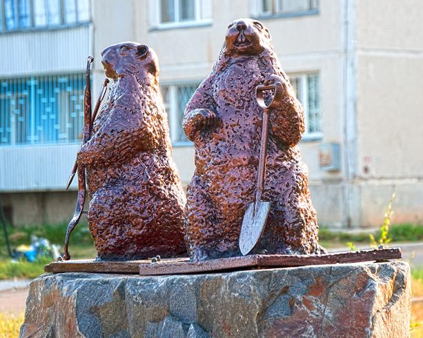 Памятник суркам - Тарбаганам