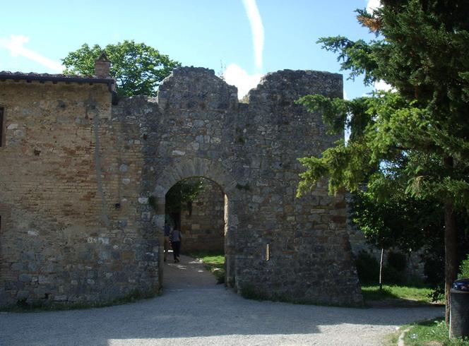 Руины ворот