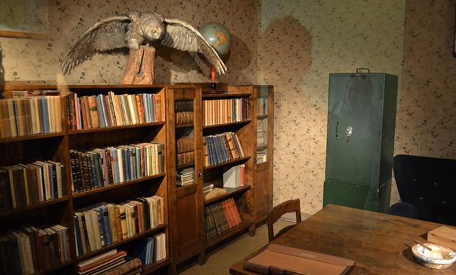 Внутри музея главной ставки Маннергейма