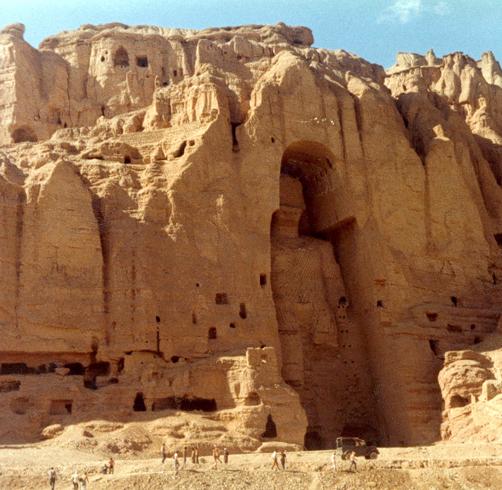 Пещерный монастырь в долине Бамиан