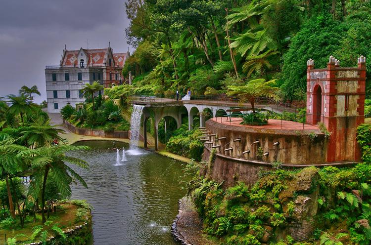 Тропический сад Фуншал дворца Монте