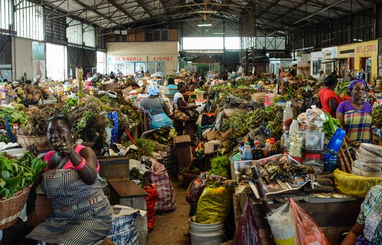 Центральный рынок Парамарибо