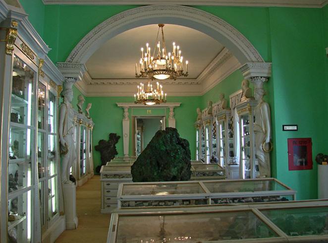 Внутри горного музея