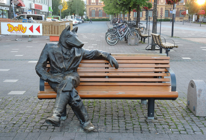 Скульптура Susi kosiomatkalla