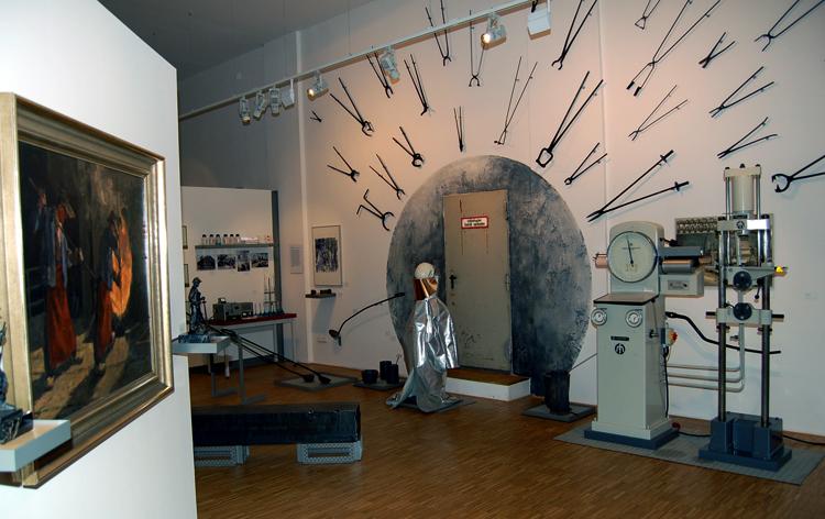 Внутри музея «Стали»
