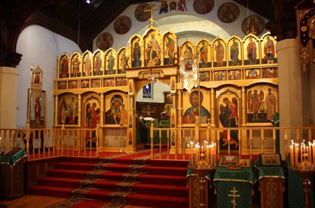 Внутри собора Христа спасителя