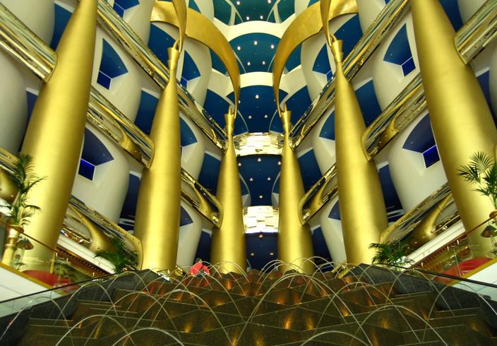 Внутри Burj Al Arab