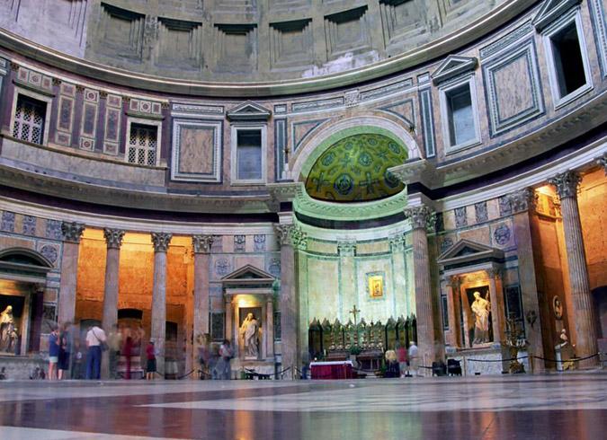 Пантеон внутри