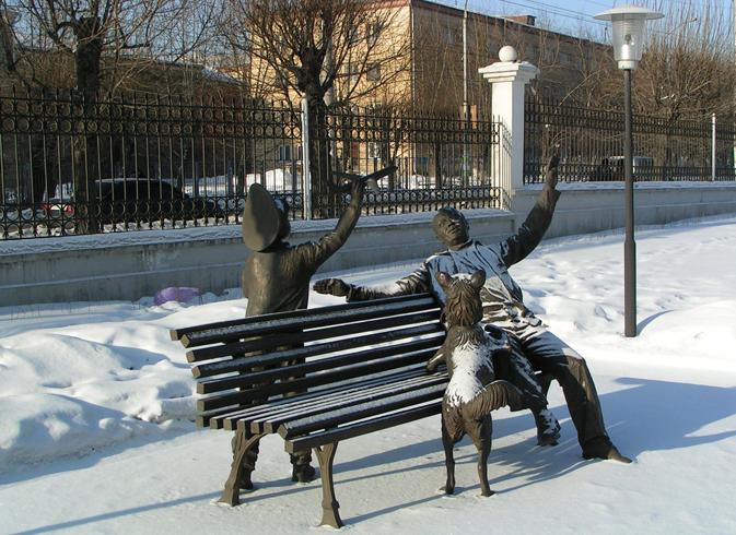 Скульптурная композиция «Преемственность поколений»