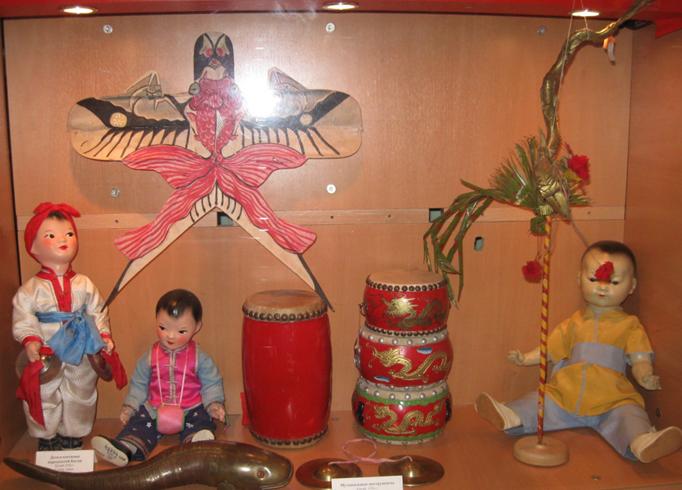Внутри музея игрушки