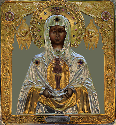 Икона Албазинской Божией Матери «Слово плоть бысть»