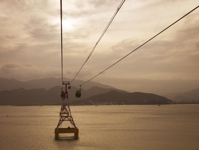 Канатная дорога к острову Хон Че