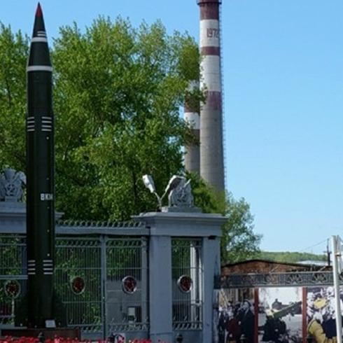Памятник баллистической ракете 8К-14