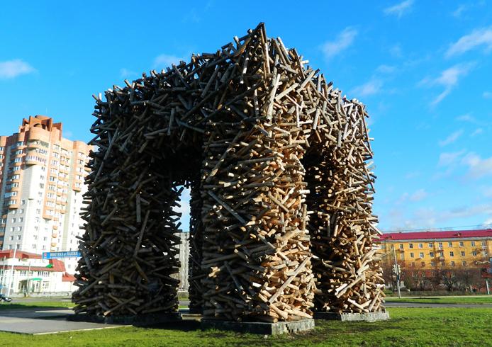 Памятник букве «П»