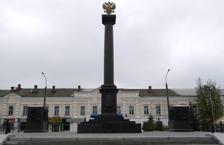 Стелла «Вязьма – город воинской славы»