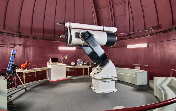 Внутри планетария