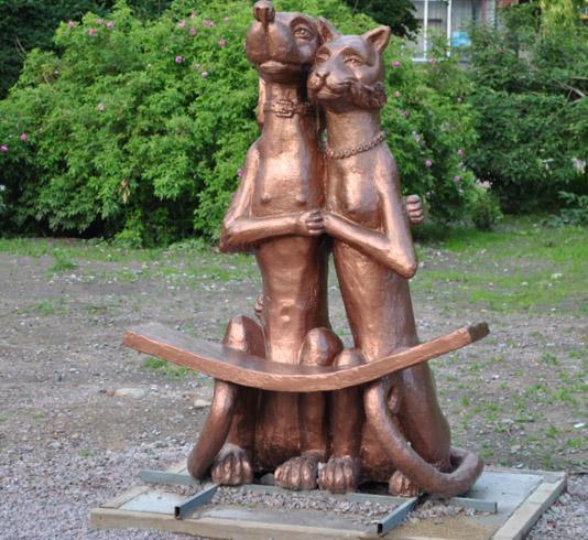 Арт-объект «Собака и кошка»