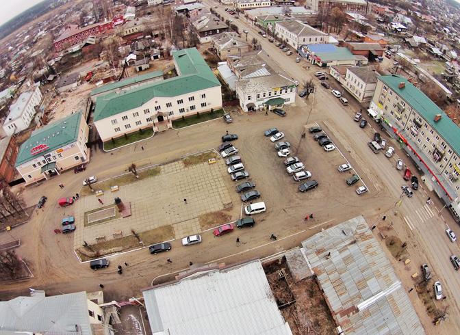 Центр городка Киржач