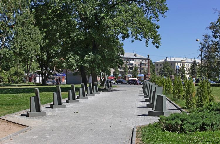 Аллея героев в Пскове