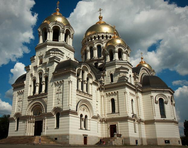 Патриарший Вознесенский кафедральный войсковой казачий собор и площадь Ермака