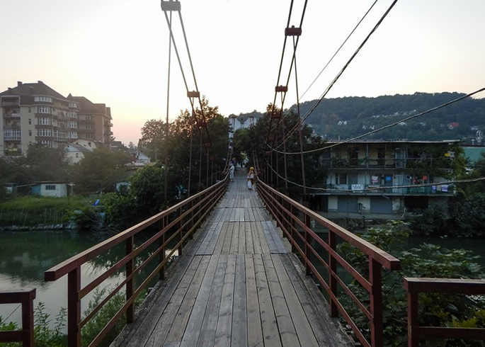 Подвесной мост через реку Дагомыс