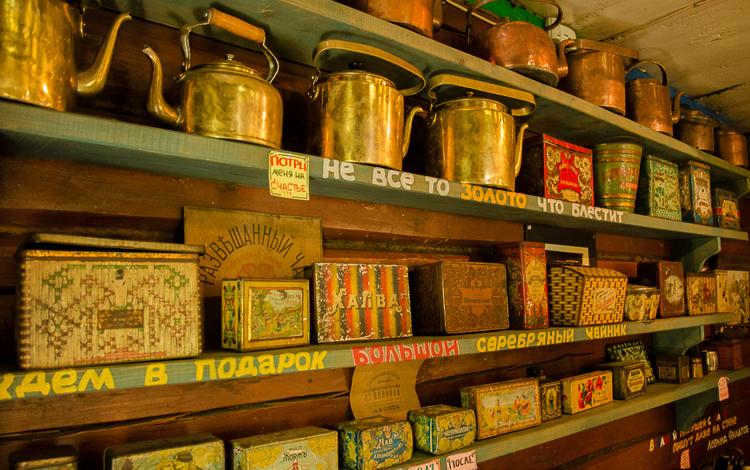 Внутри музея чайника