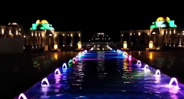 Аллея цветных фонтанов