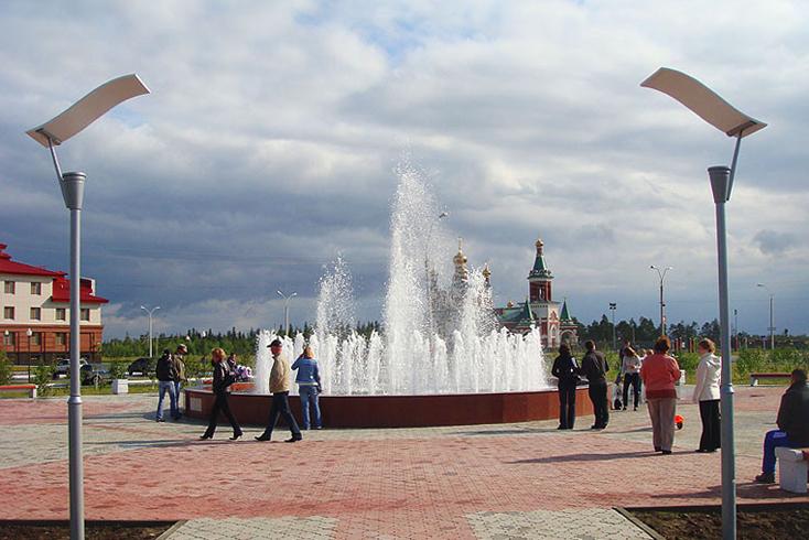 Фонтан к 25-летию г. Усинск