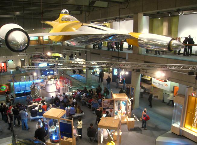 внутри музея науки