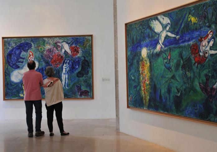 внутри музея Шагала