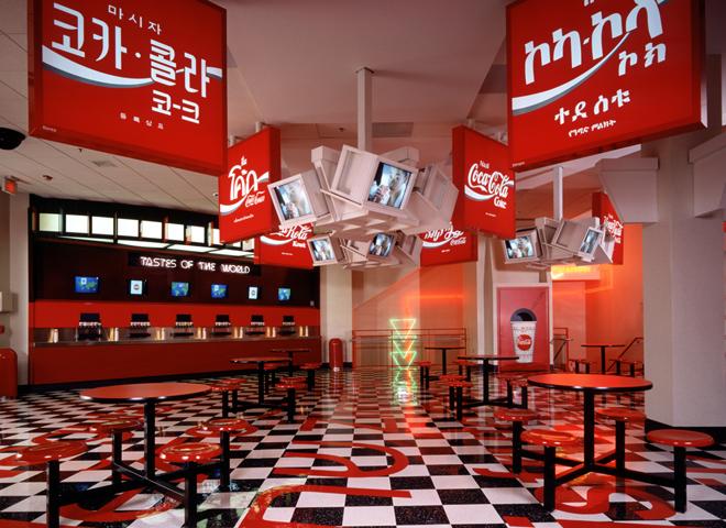 внутри музея кока-колы