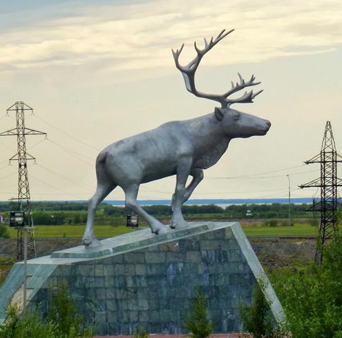 Памятник оленю