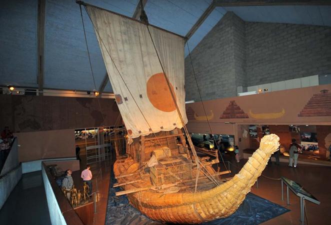 внутри музея Кон-Тики