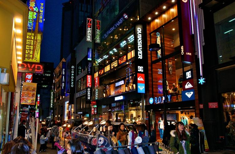 Улица Мендон в Сеуле