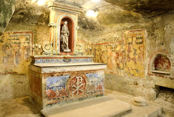 Внутри часовни святой Агаты