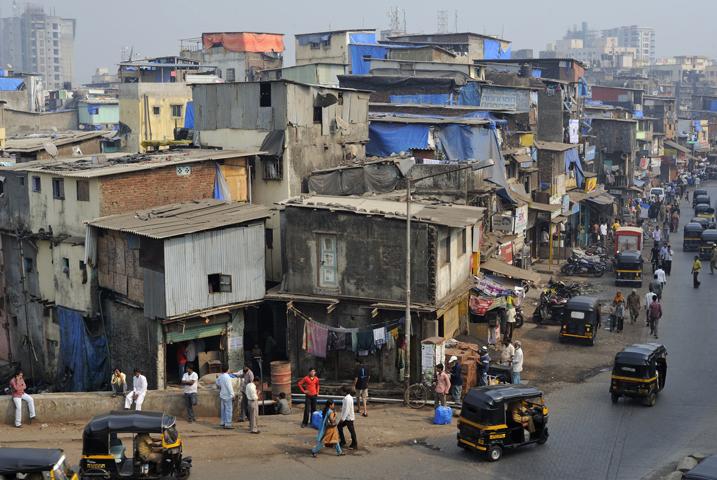 Район трущоб Дхарави
