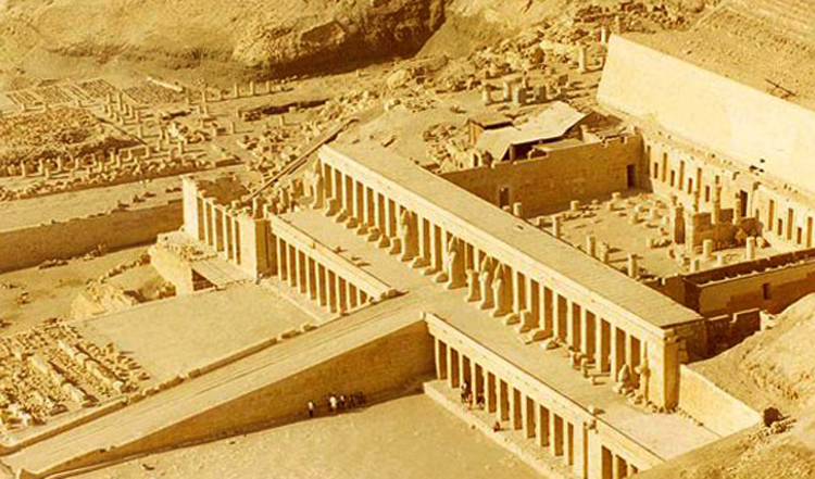 Руины храма Осириса в Абидосе
