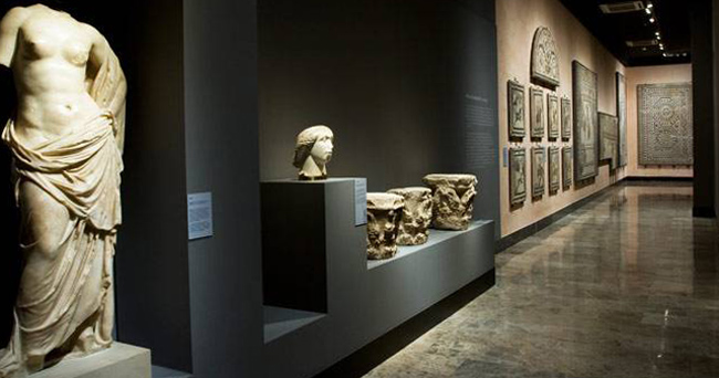 Внутри музея Сарагосы