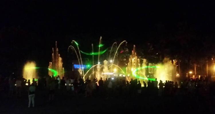 Светящейся фонтан