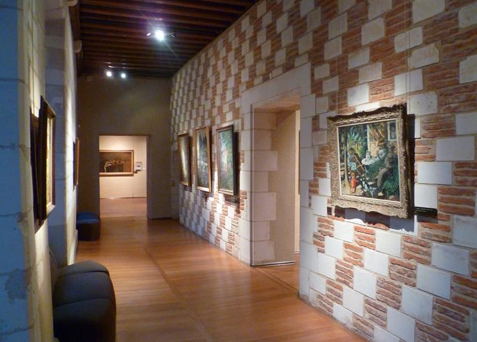 Внутри музея современного искусства