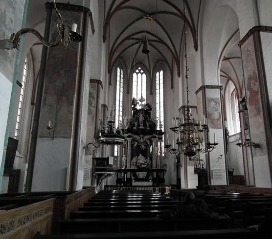 Внутри церкви Святого Якоба