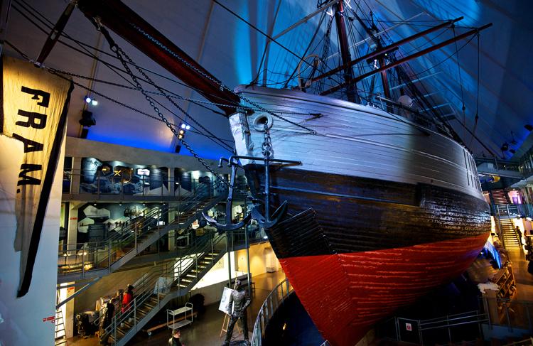 Внутри музея Фрама