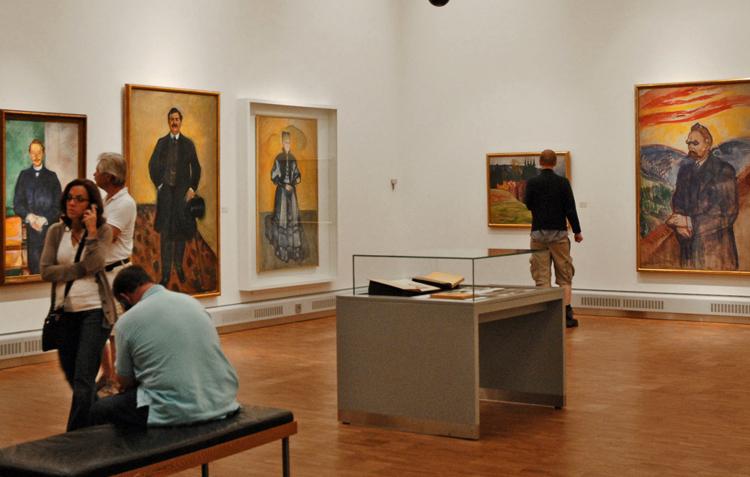 Внутри музея Мунка