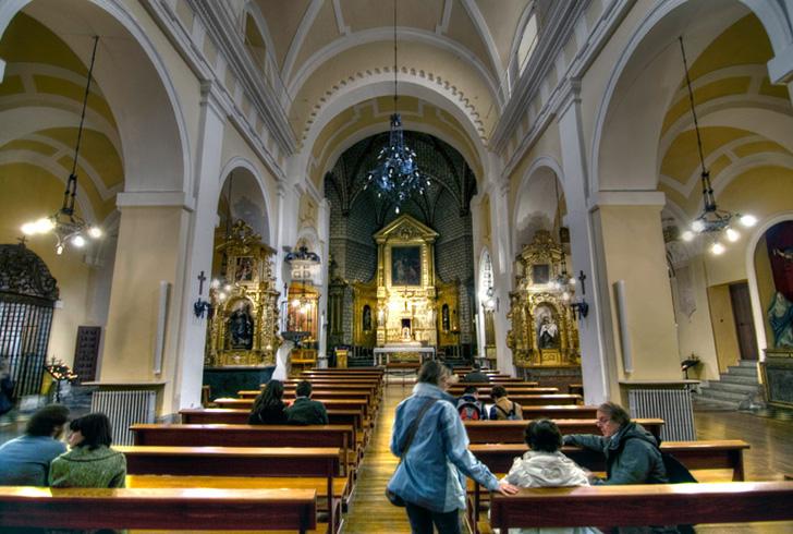 Внутри церкви Святого Фомы