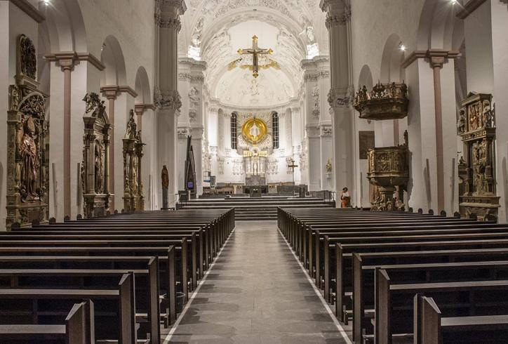 Внутри собора Святого Килиана