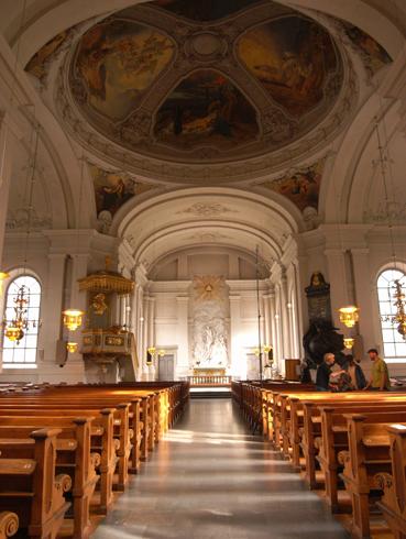 Внутри церкви Адольфа Фредерика