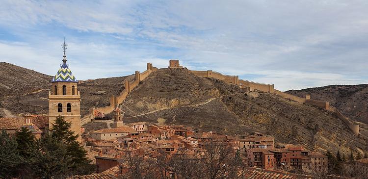 Крепостные стены Альбарассины
