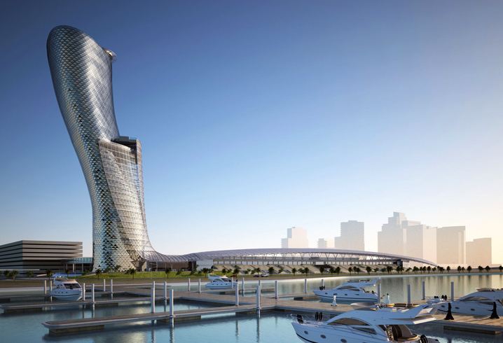 Падающая башня Абу-Даби